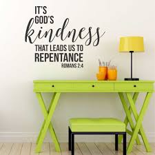 romans god kindness wall art great impression romans wall decal youth room decor teen bedroom inspirational encouraging quote faith scripture quotes