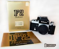 nikon f2 camera with dp 1 finder in box sold the negative side