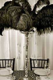 Feather Vase Centerpieces by Feather Centerpiece Trumpet With Crystals Toa 2013 Pinterest