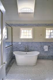 Wainscoting Over Bathroom Tile Cream Mini Subway Tiles Cottage Bathroom John Hummel