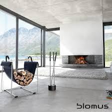 canneto fireplace tool set 3 pcs 65339 blomus loftmodern