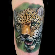 color realistic cheetah tattoo done at the philadelphia tattoo
