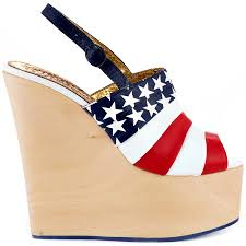 American Flag Shoes Chica Chola Red Blue Irregular Choice 149 99 Free Shipping