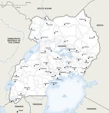 Map Of Uganda In Africa by Vector Map Of Uganda Political Uganda