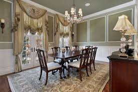 Curtains For Dining Room Green Wall Color With Ornate Traditional Curtain For
