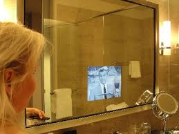 Hotel Bathroom Mirrors by Astonishing Tv For Bathrooms Intended Bathroom Bathroom Tv Mirror
