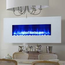 Wall Mounted Electric Fireplace Heater Panel Wall Mounted Electric Fireplace Heater Long Linear Crystal
