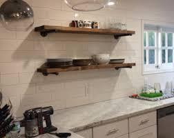 floating kitchen shelves with lights floating shelves 8 deep industrial shelves rustic pipe