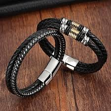 fashion charm leather bracelet images Fashion charm bracelets 316l stainless steel chain genuine jpg
