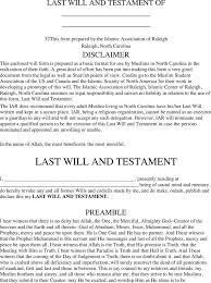 download north carolina last will and testament form for free