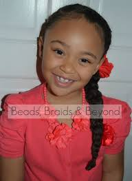 beads braids and beyond 3 cornrows to the side into one large braid