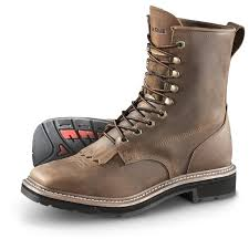 brown motorcycle boots for men guide gear men u0027s square toe lacer work boots 583601 cowboy