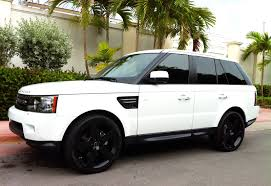 white wrapped range rover range rover sport white black rims on tires and wheels ideas