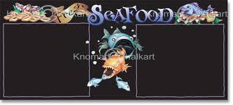 seafood menu board template art shop