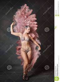 burlesque feather fans burlesque dancer with feather fans stock image image of