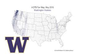 Pullman Washington Map by Geographic Maps Of College Football Fan Bases Cougcenter