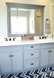 finished chalk paint bathroom cabinets how to painted bathroom