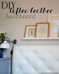 remodelaholic make a tufted leather headboard