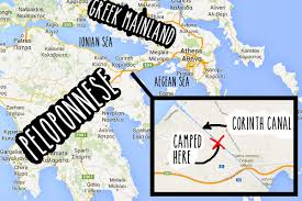 location canap crossing the corinth canal vandog traveller