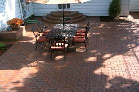 Patio Pavers Ta Patio And Steps Using Pine Brick Clay Pavers