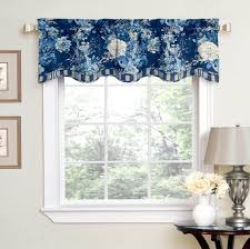 home decoration captivating blue wavelry valances for living room