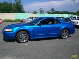 2000 Mustang Gt Black 2000 Bright Atlantic Blue Metallic Ford Mustang V6 Coupe 12956480