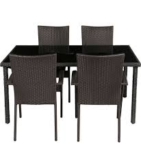 buy lima 4 seater patio furniture dining set black at argos co