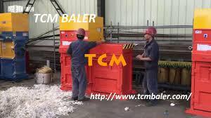 manual waste paper pressing machine youtube
