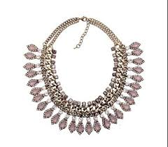 rose gold necklace fashion images Rose gold statement necklace jpg