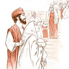 joseph and mary bring baby jesus to the temple life of jesus