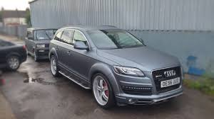 Audi Q7 Night Black - audi q7 wrap wrapping metallic black lustre pearl domotec www