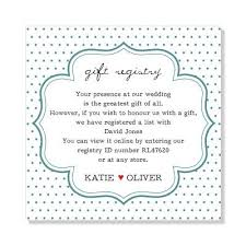 wedding invitation gift registry wording 6253