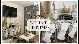 glam holiday console table decorate with me 2017 youtube
