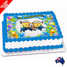 edible minions minions edible cake image icing personalised birthday decoration
