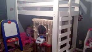 Plans To Build A Bunk Bed Ladder by Free Woodworking Plans To Build A Toddler Sized Low Loft Bunk