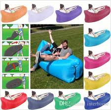 fast inflatable sleeping bag lazy air sofa bed camping hangout