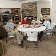 5 foot round table amazon com lifetime 25402 commercial round fold in half table 5
