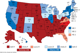 Projected 2016 Presidential Electoral College Map Autos Post by Obama Vs Romney Us Map