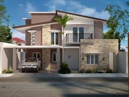 two storey residential house home design within modern two story