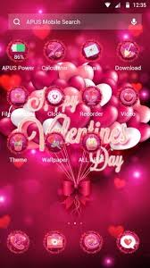 love themes video happy valentine s day android theme love apus themes