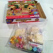 wood garden set craft kit for kids summer fun from