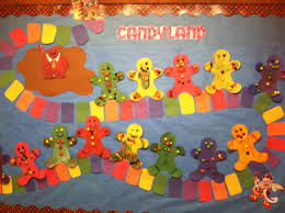 candy land bulletin board i did for my christmas theme