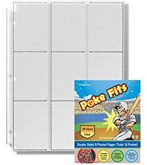 9 pocket pages 25 twenty five 9 pocket pages for baseball cards