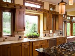 amazing diy windows treatment for kitchen with wooden cabinet