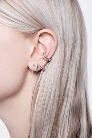 ear hoops micro pave triangle hoop single earring wendy nichol
