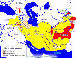 World Language Map by Iranian Languages And Literatures Cais