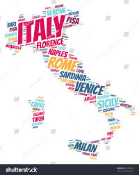 Brescia Italy Map by Italy Map Silhouette Word Cloud Most Stock Illustration 498735298
