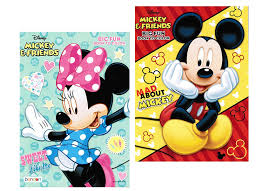 amazon com disney mickey and minnie mouse coloring book set with