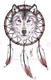 wolf dreamcatcher ii design by rozthompsonart on deviantart