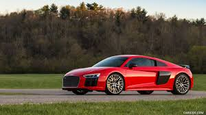Audi R8 Red - 2017 audi r8 v10 plus red us spec side hd wallpaper 21